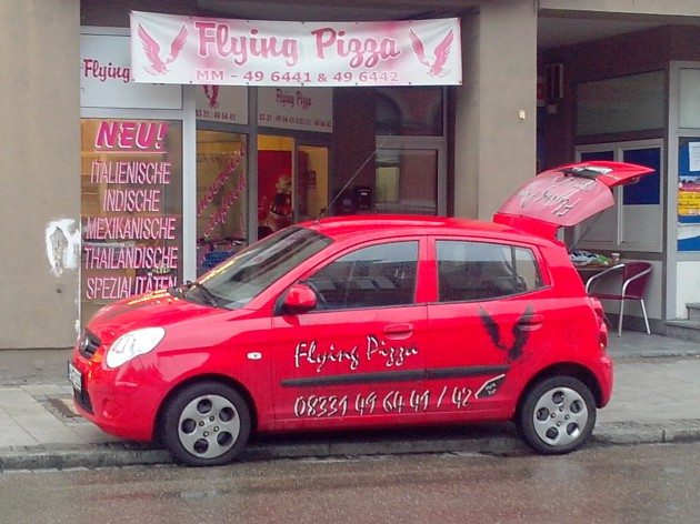 Flying Pizza: unsere Liefermobiele