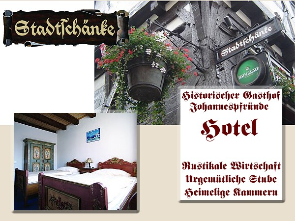 Gasthof Stadtschänke: Fremdenzimmer in der Stadtschänke