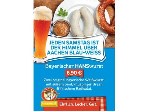 Hanswurst: Jeden Samstag: bayriche Weißwürstel... Lecker