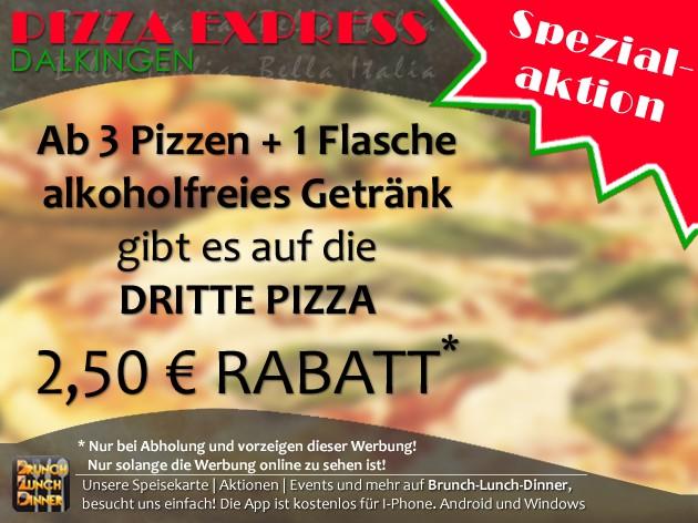 Pizza Express Dalkingen: Unsere speziellen Aktionen