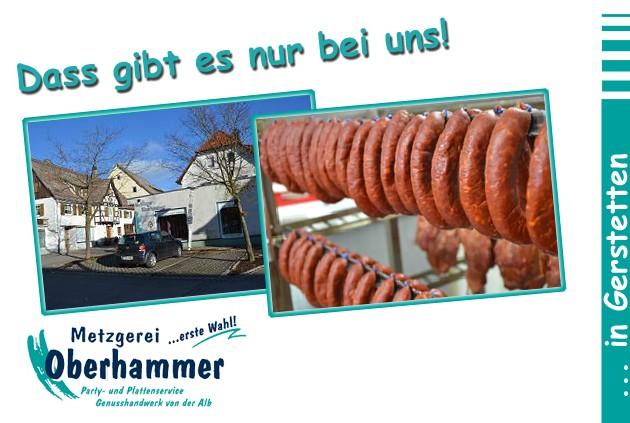 Metzgerei Oberhammer - Gerstetten: Herzlich Willkommen bei der Metzgerei Oberhammer Gerstetten - Zwischen Marktplatz und Kirche