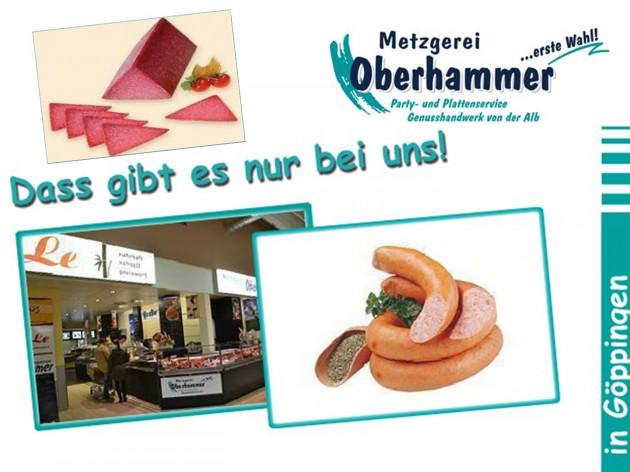 Metzgerei Oberhammer - im Kaufland Göppingen: Herzlich Willkommen bei der Metzgerei Oberhammer und Oberhammer´s EssBar - im Kaufland