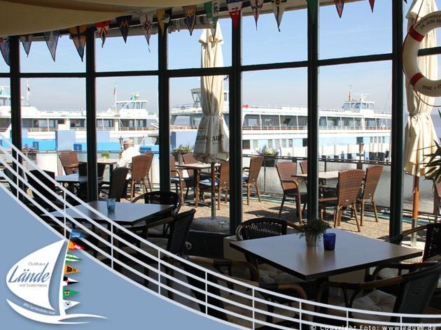 Clubhaus Lände: Unser Restaurant mit Seeterrasse