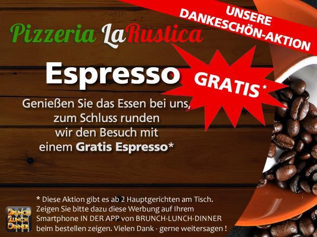 Pizzeria - La Rustica: Unsere Dankeschön-Aktion