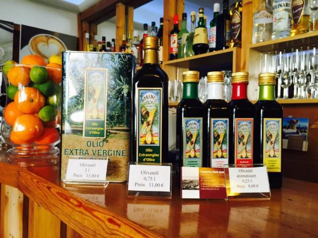 Pizzeria - La Rustica: Olivenöl aus Sizilien
