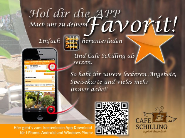 Cafe Schilling: Mach uns zu deinem Favorit!
