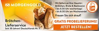 Brötchen-Lieferservice gratis Probieren