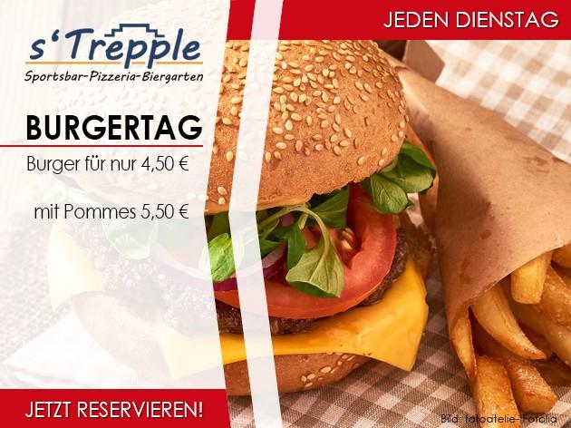 s'Trepple Sportbar: Burgertag...