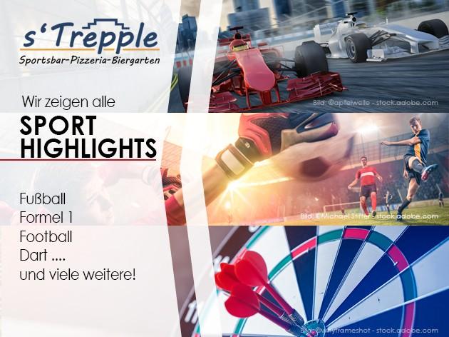 s'Trepple Sportbar: Bei uns gibt es...