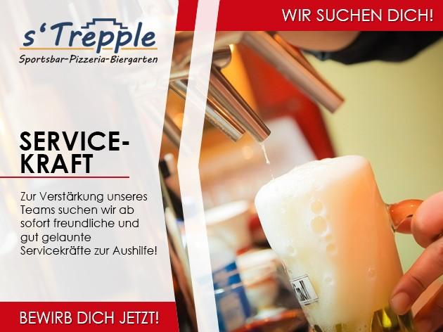 s'Trepple Sportbar: Servicekraft