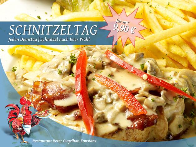 Restaurant Roter Gugelhan: Dienstag ist Schnitzel-Tag