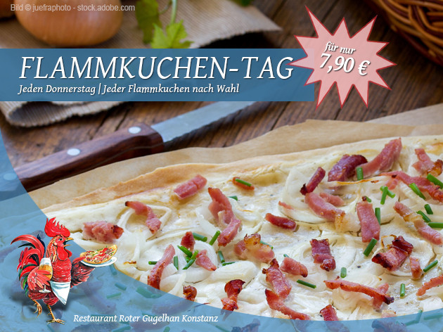 Pizza-Restaurant Roter Gugelhan: Donnerstag ist Flammkuchen-Tag