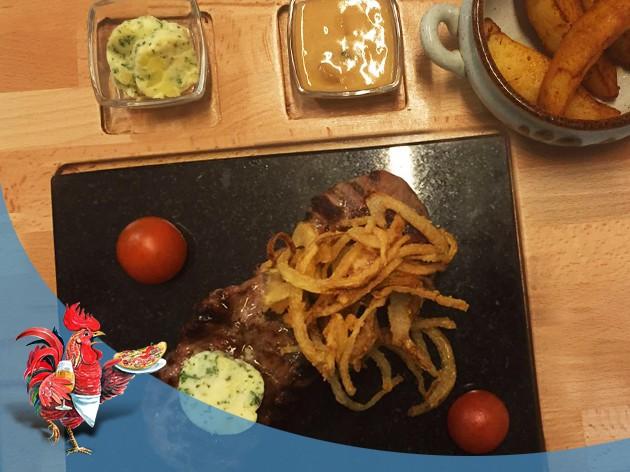 Restaurant Roter Gugelhan: NEU   Heißer Stein