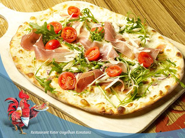 Pizza-Restaurant Roter Gugelhan: Elsässer Flammkuchen Gugelhan XXL