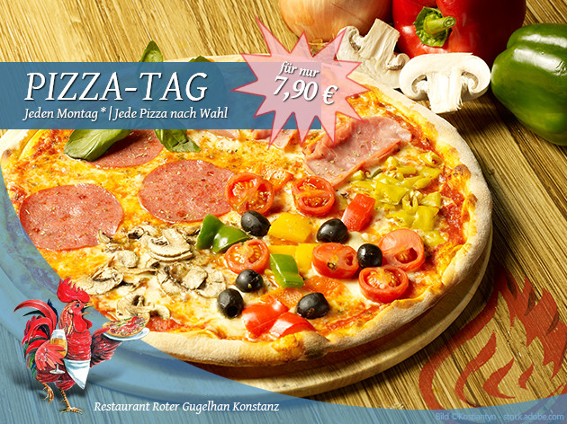 Pizza-Restaurant Roter Gugelhan: Montag ist Pizza-Tag