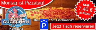 Konstanz Holzofen-Pizza, Mo. nur 7,40 €