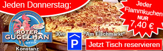 Donnerstag: Flammkuchen Konstanz
