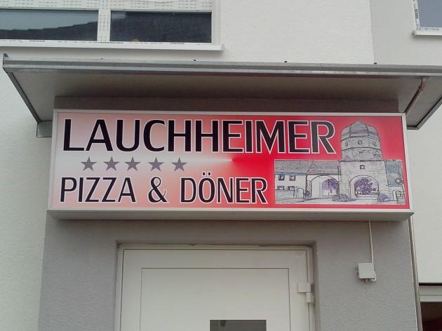 Lauchheimer Pizza und Döner: Unsere Außenansicht/Leuchtreklame