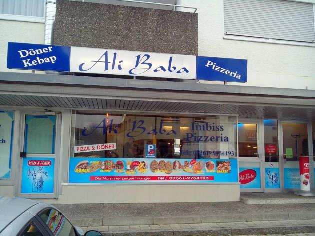 Ali Baba Pizza und Döner - Hüttlingen: Unsere Außenansicht/Leuchtreklame