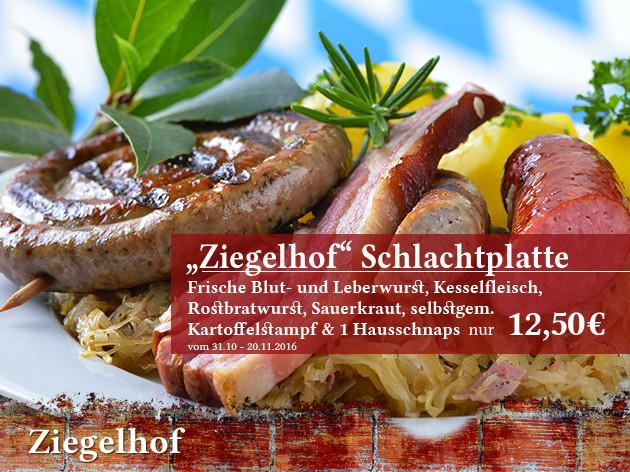 """Gaststätte Ziegelhof: """"Ziegelhof"""" Schlachtplatte"""