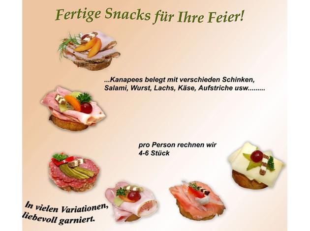 Markt-Metzgerei Schuster: Partyservice Snacks Kanapees
