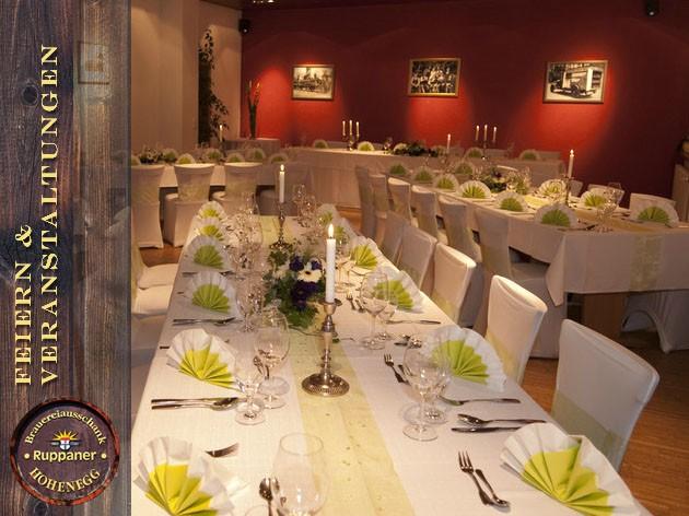 Restaurant Hohenegg: FEIERN & VERANSTALTUNGEN
