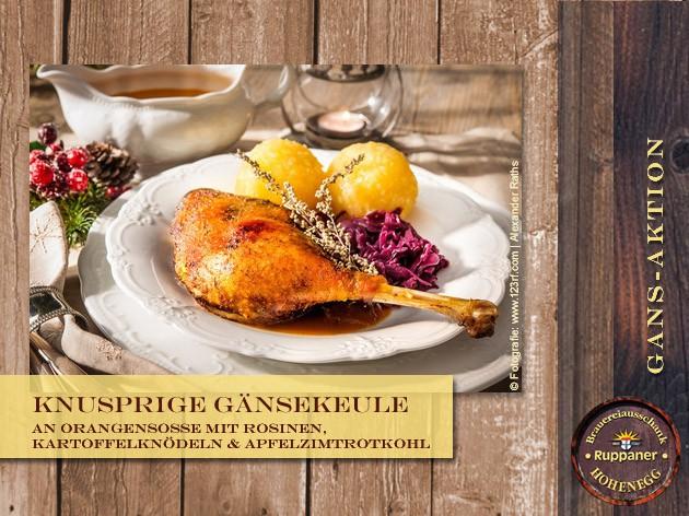Restaurant Hohenegg: Unsere Gans-Aktion