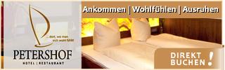 Petershof Hotel Zimmer Übernachtung KN