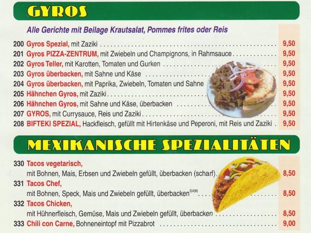 Pizza Zentrum Heimservice: Unsere Speise- und Getränkekarte - 7