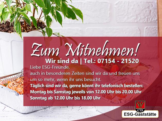 ESG - KornwEstheimer Sport Gaststätte: LIEBE ESG-Freunde,