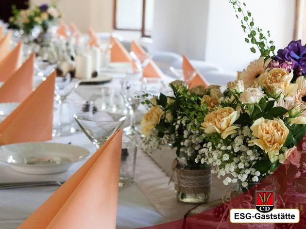ESG - KornwEstheimer Sport Gaststätte: Veranstaltungen aller Art, Geburtagsfeier, Hochzeiten, Polterabend oder nur gemütlich Beisamensein