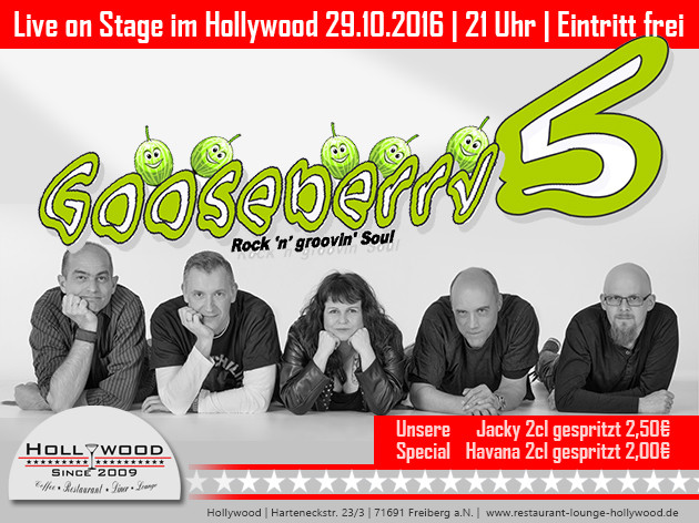 Hollywood: LIVE | GOOSEBERRY 5