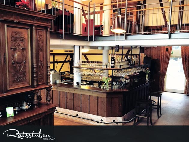 Ratsstuben Restaurant-Gasthaus Weissach: Der Gastraum in den Ratsstuben Weissach