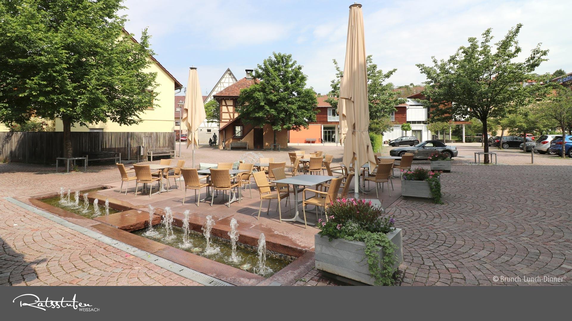 Ratsstuben Restaurant Weissach: Perfekt für einen Sektempfang nach Ihrer standesamtlichen Trauung - oder als Location für Ihre Hochzeit.