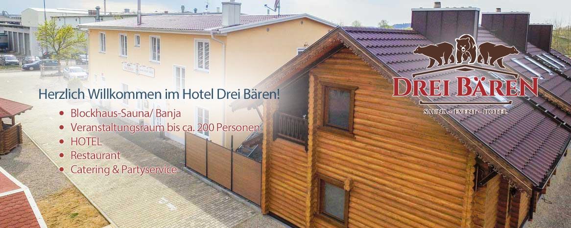 Drei Bären Hotel Sauna Event -  86551 Aichach an der Paar - Ecknach -  bei Dasing/ Augsburg