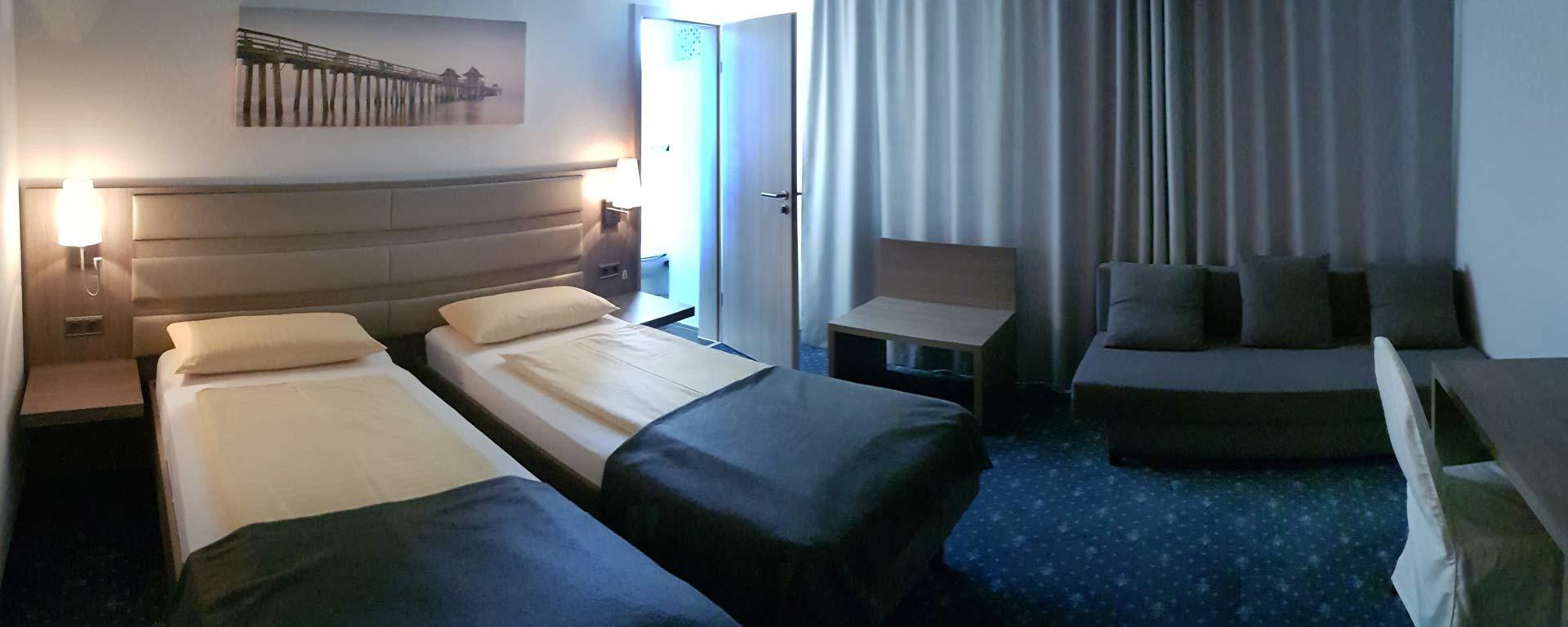 Preiswerte Hotel-Zimmer und Übernachtung in 86551 Aichach bei Dasing/ Augsburg