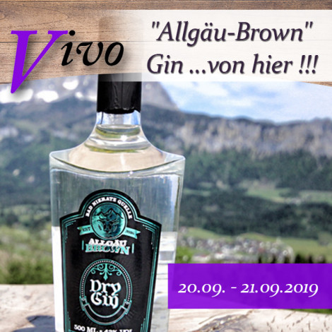 """""""Allgäu-Brown"""" Gin ...von hier !!!"""