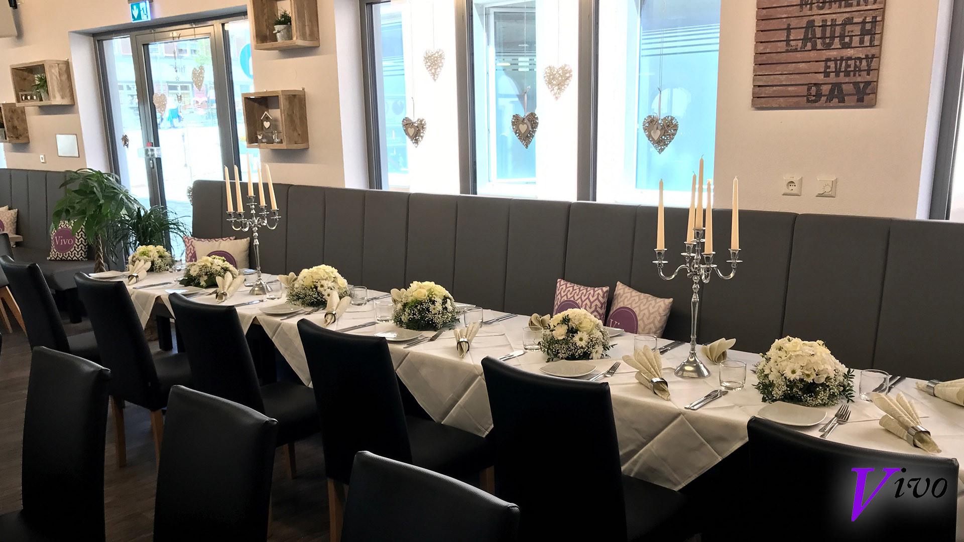 Tisch für eine gebuchte Hochzeit