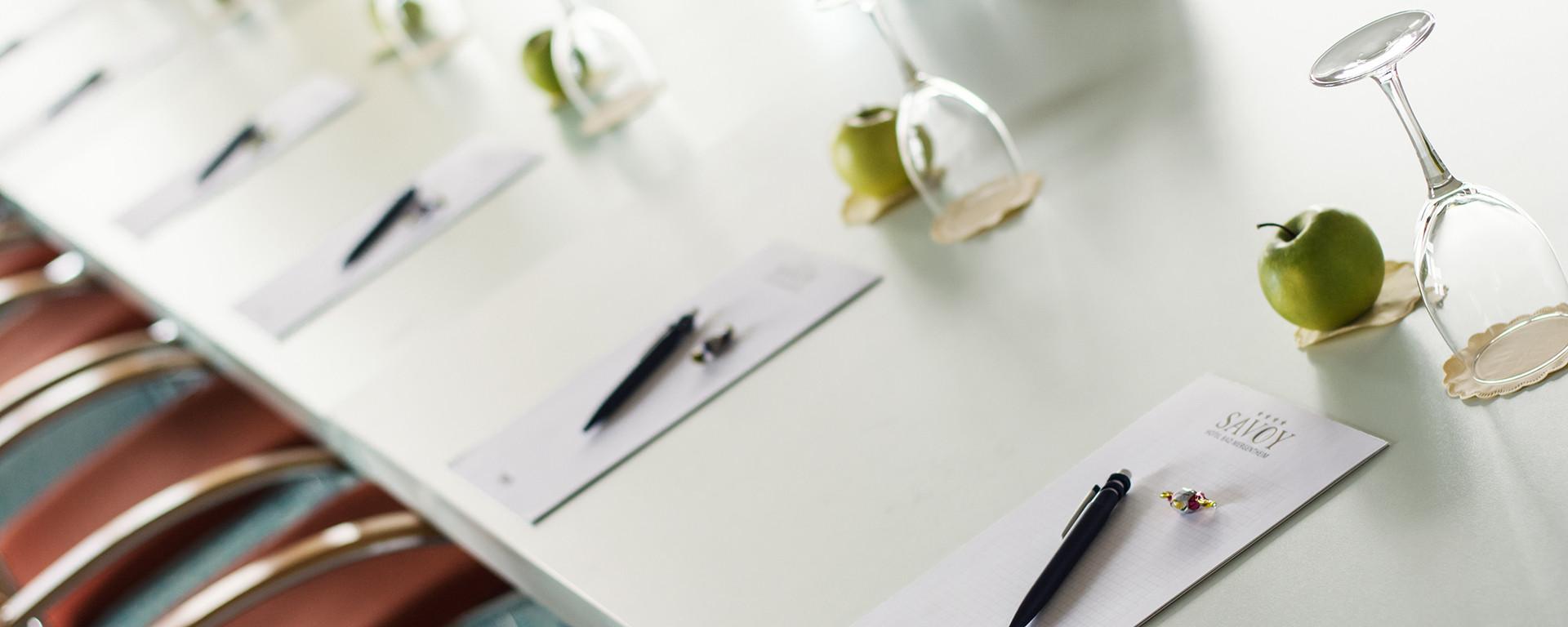 Räume für Tagungen, Schulungen, Trainings, Meetings oder Präsentationen: Buchen Sie das SAVOY Hotel Bad Mergentheim