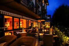Wunsch Hotel Muerz Sonnenterrasse bei Nacht