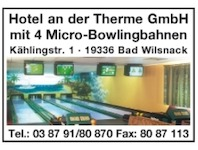 Hotel an der Therme GmbH, 19336 Bad Wilsnack