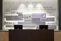 Premier Inn Frankfurt Messe hotel reception desk