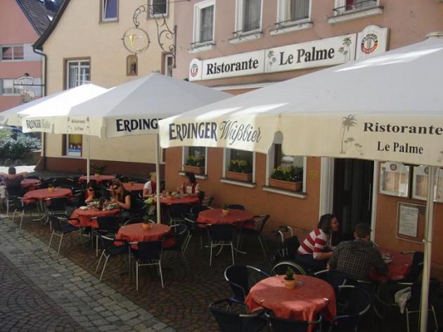 """Ristorante """"Le Palme"""" Ellwangen: Der Biergarten - Außenbereich"""
