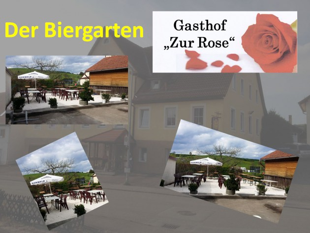 """Gasthof """"Zur Rose"""": Der Biergarten"""