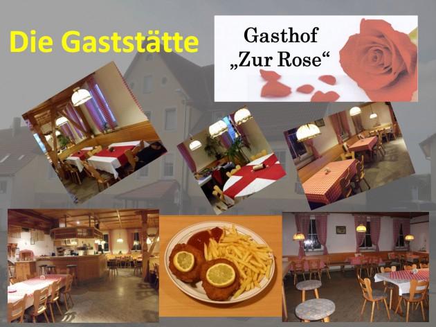 """Gasthof """"Zur Rose"""": Die Gaststätte - Die schwäbische Küche"""