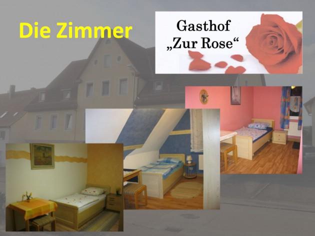 """Gasthof """"Zur Rose"""": Die Zimmer - Die Pension"""