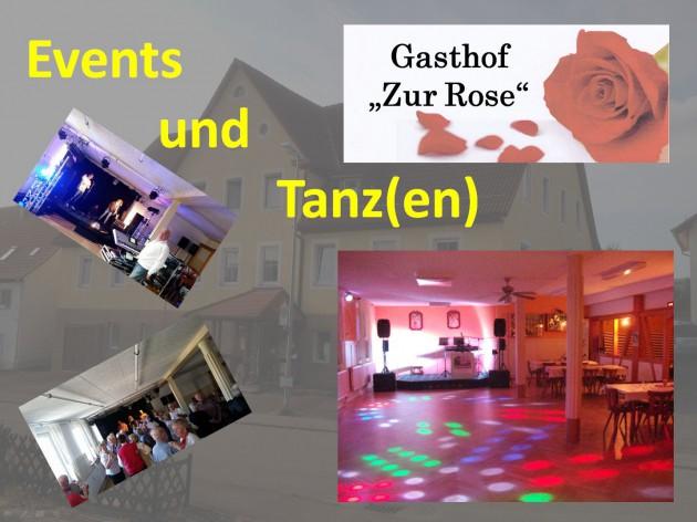 """Gasthof """"Zur Rose"""": Events und Tanz(en)"""