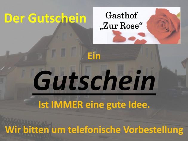"""Gasthof """"Zur Rose"""": Gutscheine"""