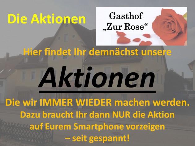 """Gasthof """"Zur Rose"""": Aktionen"""