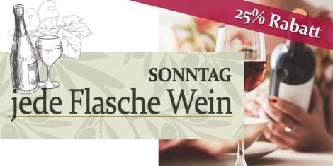 Wein zum Sonderpreis | 25% Rabatt